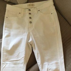 "Madewell Jeans - Madewell 10"" High Rise Skinny Jeans Raw Hem"